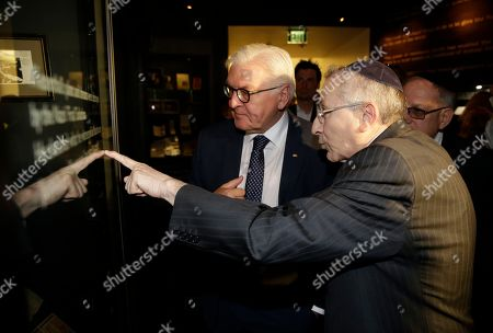 Stock Picture of Marvin Hier and Frank-Walter Steinmeier