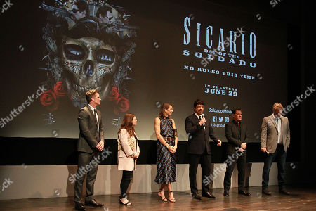 Trent Luckinbill,Erica Lee, Benicio Del Toro, Josh Brolin, Molly Smith and Basil Iwanyk