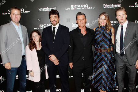 Basil Iwanyk, Erica Lee, Benicio Del Toro, Josh Brolin, Molly Smith and Trent Luckinbill