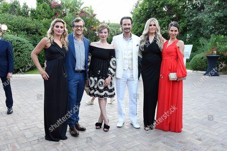 Angelica Russo, Gabriele Muccino, Violante Placido, Rodrigo Santoro, Tiziana Rocca and Mel Fronckowiak