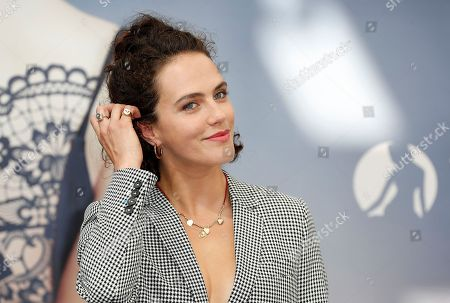 British actress Jessica Brown Findlay poses during a photocall for the TV series 'Harlots' at the 58th Monte Carlo Television Festival in Monaco, 19 June 2018. The event will take place from 15 to 19 June.