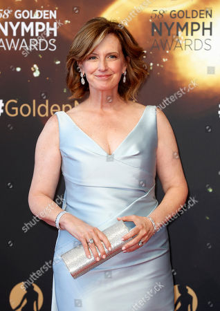 Stock Photo of Netflix director Anne Sweeney poses on the red carpet while arriving for the closing ceremony of the 58th Monte Carlo Television Festival in Monaco, 19 June 2018. The event will take place from 15 to 19 June.
