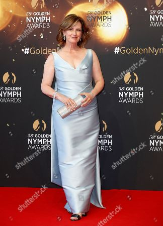 Netflix director Anne Sweeney poses on the red carpet while arriving for the closing ceremony of the 58th Monte Carlo Television Festival in Monaco, 19 June 2018. The event will take place from 15 to 19 June.