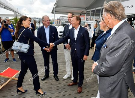 Crown Princess Victoria, Martin Lundstedt, President of AB Volvo, Richard Brisius, president Volvo Ocean Race, Hakan Samuelsson, President & CEO, Volvo Car group, Camilla Nyman