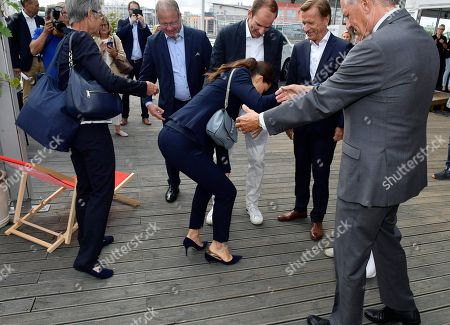 Crown Princess Victoria, Martin Lundstedt, President of AB Volvo, Richard Brisius, president Volvo Ocean Race, Hakan Samuelsson, President & CEO, Volvo Car group, Jan Eliasson