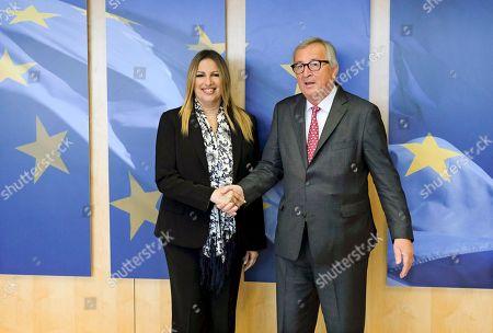 Jean-Claude Juncker and Fofi Gennimata
