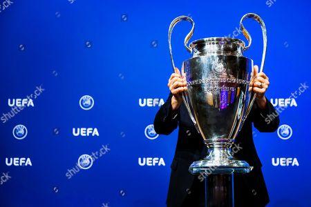 Uefa Champions League Qualification Draw Nyon Stock Photos