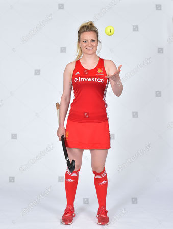 Editorial image of Hollie Webb. Spt_gck_070617_hockey Feature England Women's Team. Picture Graham Chadwick Hollie Webb Defender For England. The Top Three Teams In The World Do Battle In London England Women Take On Investec Internationals Vs Holland & Argentina At T