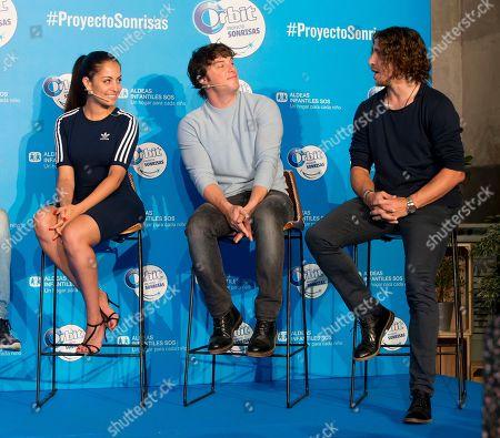 Carles Puyol, Hiba Abouk and Jordi Cruz