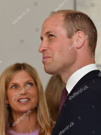 Stock Picture of Prince William is shown around by Clare Mountbatten as he visits James' Place in Liverpool