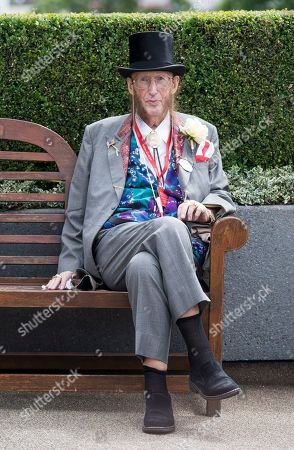 Former race commentator John McCririck attends day one of Royal Ascot at Ascot racecourse in Berkshire