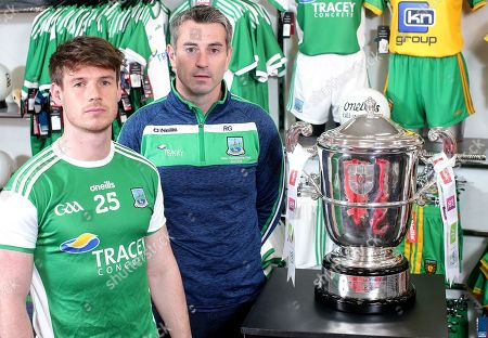 Fermanagh's Tomas Corrigan and manager Rory Gallagher