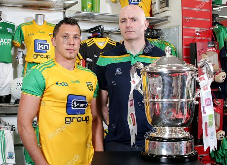 Donegal's Paul Brennan and assistant manager Paul McGonigle