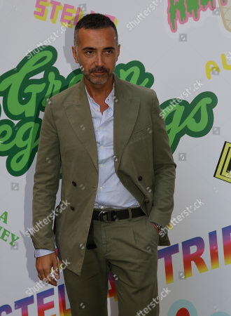 Italian designer Andrea Incontri arrives to attend the Stella McCartney men's Spring-Summer 2019 collection, that was presented in Milan, Italy
