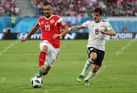 Aleksandr Samedov of Russia and Tarek Hamed of Egypt