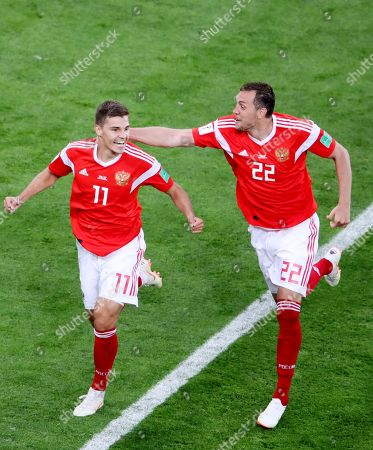 Editorial photo of Russia v Egypt, Group A, 2018 FIFA World Cup football match, Saint Petersburg Stadium, Russia - 19 Jun 2018