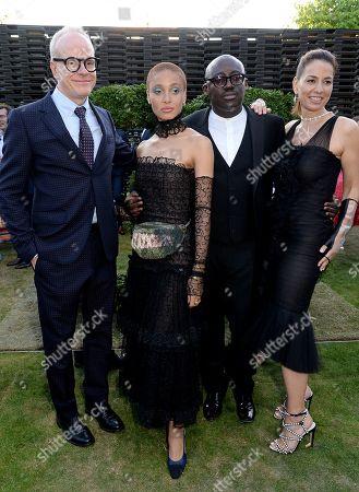 Hans-Ulrich Obrist, Adwoa Aboah, Edward Enninful and Yana Peel