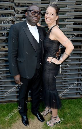 Edward Enninful and Yana Peel