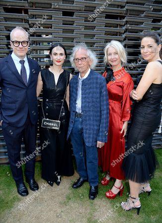 Hans-Ulrich Obrist, Frida Escobedo, Christo, Justine Simons and Yana Peel