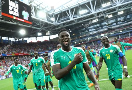 Alfred Ndiaye (Senegal)  celebrate the victory greeting the fans during the FIFA World Cup Russia 2018 Group H match Poland v Senegal at Spartak Stadium