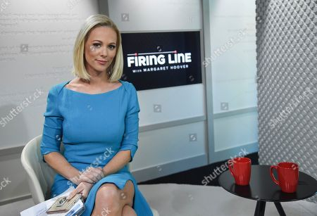 """Margaret Hoover pictured during a taping of PBS's new public affairs show """"Firing Line with Margaret Hoover"""" at Tisch WNET Studios, in New York"""