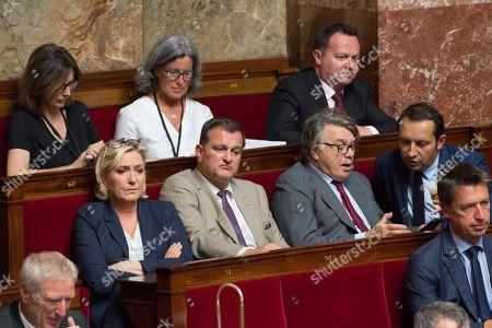 Marine Le Pen, Louis Alliot, Gilbert Collard and Sebastien Chenu