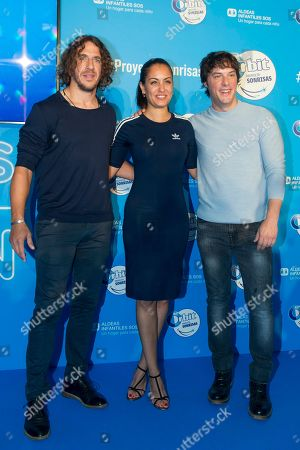 Carles Puyol former Spanish footballer of F. C. Barcelona, Spanish actress Hiba Abouk and Spanish chef Jordi Cruz