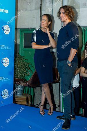 Spanish actress Hiba Abouk, Carles Puyol, former Spanish footballer of F. C. Barcelona