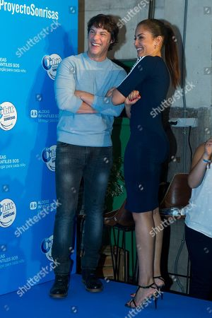 Stock Image of Spanish chef Jordi Cruz and Spanish actress Hiba Abouk