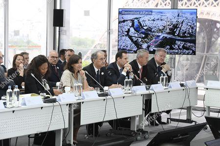 Laura Flessel, Anne Hidalgo, Denis Masseglia, Jean Christophe Rolland, Guy Drut and Bernard Lapasset