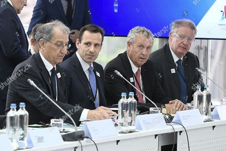 Denis Masseglia, Jean Christophe Rolland, Guy Drut and Bernard Lapasset