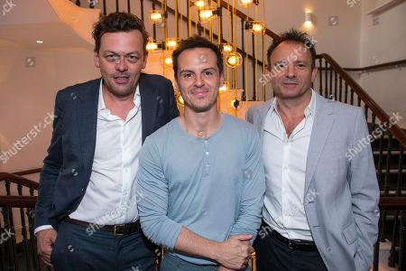 Simon Stephens (Author), Andrew Scott (Alex) and Matthew Warchus (Artistic Director)