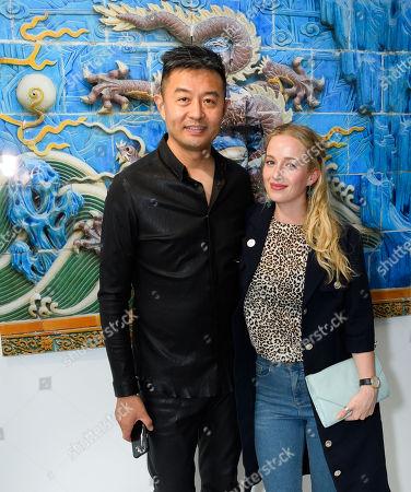Liu Bolin artist and Holli Dempsey actress