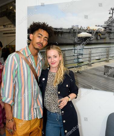 Jordan Stephens Actor and musician (Rizzle Kicks) and Holli Dempsey actress