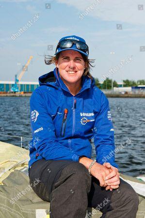 Vestas team Member Australian Stacey Jackson on board of the Vesta 11th Hour Racing boat.