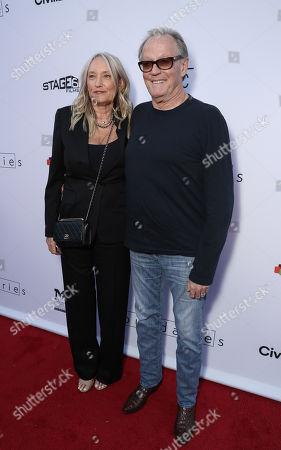 Stock Image of Parky DeVogelaere and Peter Fonda