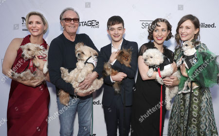 Writer/director Shana Feste, actors Peter Fonda, Lewis MacDougall, Kristen Schaal, and Vera Farmiga