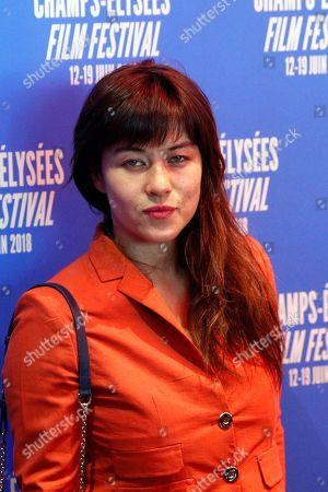 Actress Mylene Jampanoi poses during a photocall as part of the Champs Elysees Film Festival, in Paris