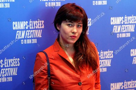 Stock Picture of Actress Mylene Jampanoi poses during a photocall as part of the Champs Elysees Film Festival, in Paris