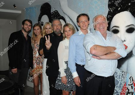 John Paul DeJoria and his wife Eloise DeJoria with family and Rory McCarthy at the front