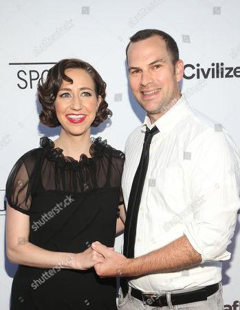 Stock Image of Kristen Schaal and Rich Blomquist