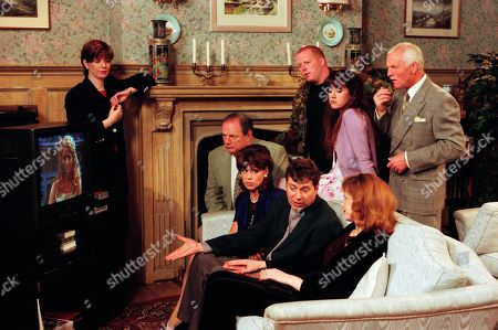 Ep 2565 Wednesday 18th August 1999 Intrigue is rife when Pollard, Viv, Turner, Ashley, Bernice and Butch are invited to a meeting at Home Farm. Viv thinks Stella is going to lend her money for Kelly's house deposit, while Turner believes she has accepted his marriage proposal. Stella though is sick of the Emmerdale residents trying to benefit from her wealth. Telling some home truths, via a video message, Stella gives Bernice, the only person who refused to ask her for money, the deposit she needs to buy The Woolpack - With Stella Jones, as played by Stephanie Schonfield ; Laura Johnstone, as played by Louise Beattie ; Alan Turner, as played by Richard Thorp ; Viv Windsor, as played by Deena Payne ; Rev Ashley Thomas, as played by John Middleton ; Bernice Blackstock, as played by Samantha Giles ; Butch Dingle, as played by Paul Loughran ; Tricia Stokes, as played by Sheree Murphy ; Eric Pollard, as played by Christopher Chittell.