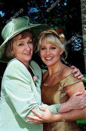 Stock Picture of Ep 2559  Thursday 5th August 1999 Kathy and Biff's wedding day arrives, but with so many secrets in the air, there's other trouble around the corner - With Caroline Bates, as played by Diana Davies ; Kathy Glover by Malandra Burrows.