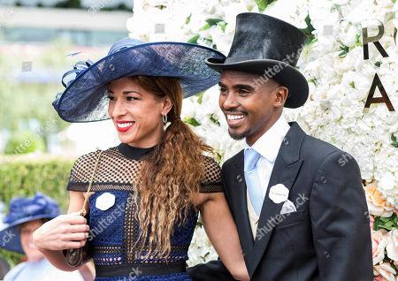Sir Mo Farah and his wife Tania.