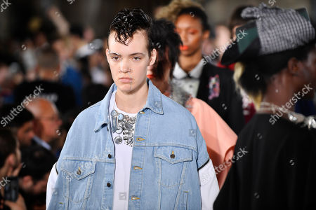 Stock Image of Models present creations from the Spring/Summer 2019 men's Collection by Japanese designer Hiromichi Ochiai for Facetasm during the Paris Fashion Week, in Paris, France, 20 June 2018. The presentation of the Men's collections runs from 19 to 24 June.