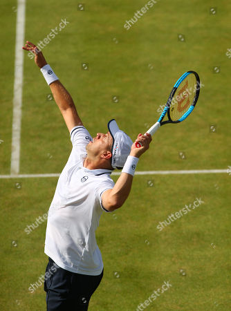 Gilles Muller of Luxembourg in action
