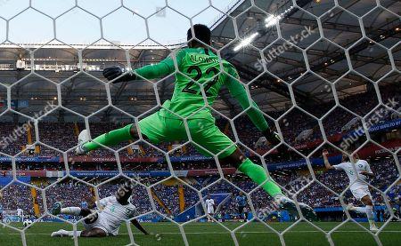 Goalkeeper Mohammed Al-Owais of Saudi Arabia
