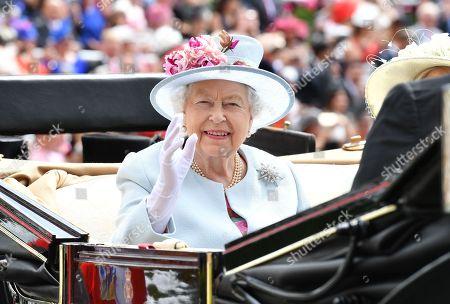 Queen Elizabeth II and Princess Alexandra of Kent