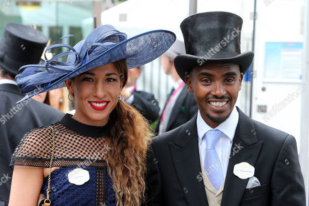 Royal Ascot, GB, Portrait of Sir Mo Farah and his wife Tania Nell.