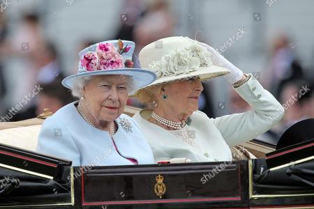 Queen Elizabeth II the Second (left) and Princess Alexandra.
